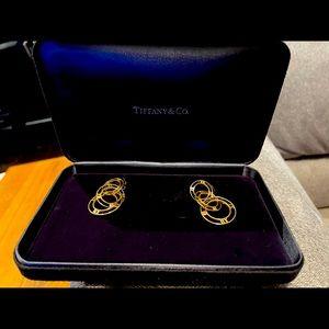 Tiffany Atlas Triple Drop Earrings Yellow Gold